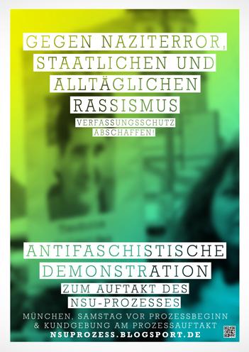 ANTIFA-DEMO zum auftakt der NSU-Prozesse in München