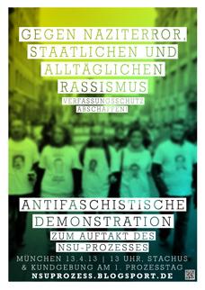 Zur antirassistischen und antifaschistischen Demo nach München!